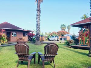 Jardín al aire libre en Marae - Cabañas Premium