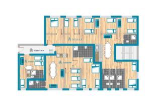 The floor plan of Heval's Grand Appartments Schöneberg