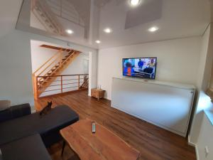 A television and/or entertainment center at Apartment Edward
