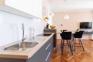 A kitchen or kitchenette at Apartments Babic