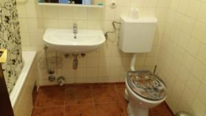 Ein Badezimmer in der Unterkunft Salzburg Bahn Hof (Railway station) apartments