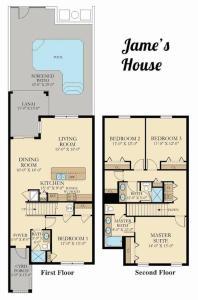 The floor plan of I - New 4 Bedroom Home