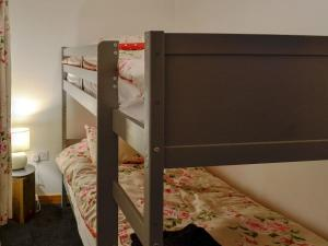 A bunk bed or bunk beds in a room at Llwyn Rhedyn