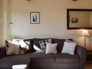 A seating area at Oak Barn Cottage