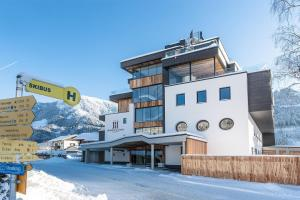 Hubertus Logis Apartments during the winter