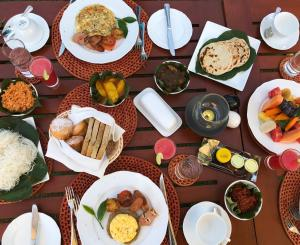 Breakfast options available to guests at Stafford Bungalow