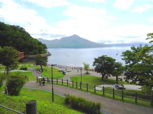 別荘から撮影された、または一般的な山の景色