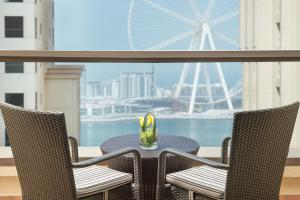 A balcony or terrace at Delta Hotels by Marriott Jumeirah Beach, Dubai