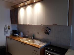 A kitchen or kitchenette at Serres Balcony Appartment