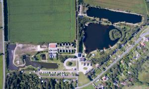 A bird's-eye view of Storkesøen Ribe Holiday Cottages and Apartments
