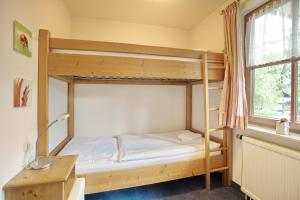 A bunk bed or bunk beds in a room at Edelweiß