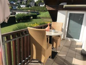 Ein Balkon oder eine Terrasse in der Unterkunft Kalverkamp Ferienwohnung
