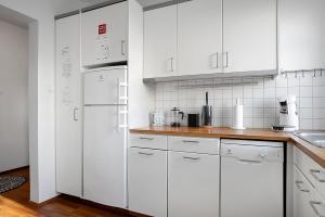 A kitchen or kitchenette at Downtown Charm - Barónsstígur 41