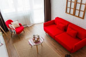 A seating area at Grand Accommodation Apartments