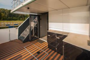 A balcony or terrace at AMBER HOUSEBOAT