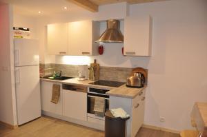 Η κουζίνα ή μικρή κουζίνα στο Chalet L'Establou