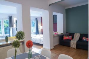 Ein Sitzbereich in der Unterkunft The garden flat