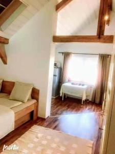 Ein Bett oder Betten in einem Zimmer der Unterkunft Salzburg Langwied Apartment