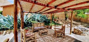 Un patio o zona al aire libre en Refugios Pisco Elqui