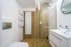 Vonios kambarys apgyvendinimo įstaigoje Apartament Przy Ratuszu