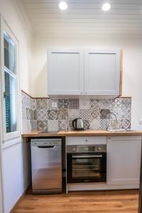 A kitchen or kitchenette at Levkosh Apartments at Lefkada's Heart
