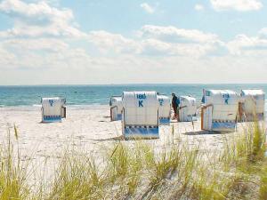 Ein Strand an oder in der Nähe des Ferienhauses