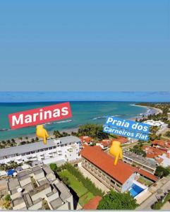 A bird's-eye view of Flat Vista Mar Praia dos Carneiros