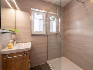 Ein Badezimmer in der Unterkunft Holledau-Apartments Familie Gmeineder
