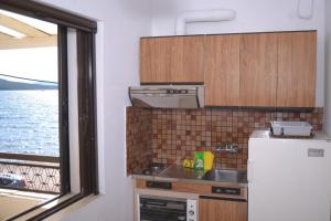 A kitchen or kitchenette at Villa Vandorou-lefkada