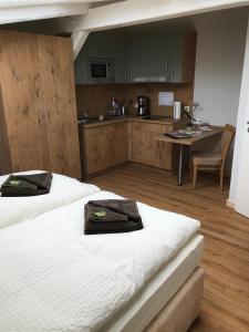 Küche/Küchenzeile in der Unterkunft Bahnhofsquartier Bad Wilsnack