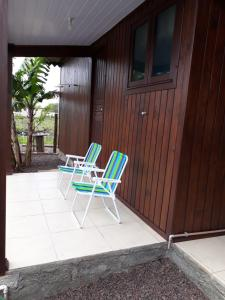 A balcony or terrace at Casa para Lazer