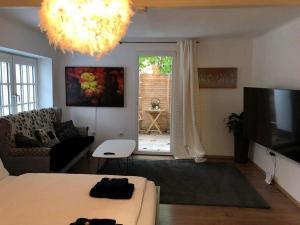 Ein Sitzbereich in der Unterkunft PIXI Apartment