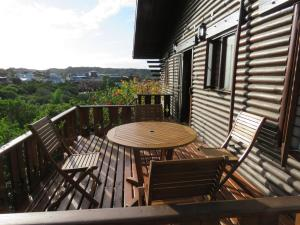 A balcony or terrace at Cowrie Cabin
