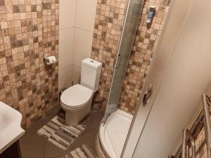 A bathroom at Apartment on Stavropigijska Street