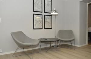 Svetainės erdvė apgyvendinimo įstaigoje Forenom Serviced Apartments Oslo Vika