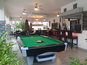 A pool table at Garden Village