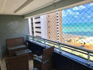 A balcony or terrace at Apt Beach Class Vista Mar