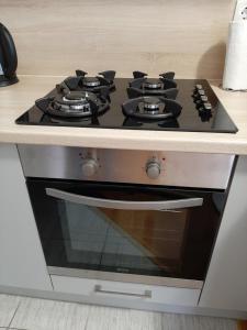 Kuchyň nebo kuchyňský kout v ubytování Apartman Jelačić Vinkovci