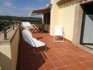 A balcony or terrace at Can Puig de la Pera