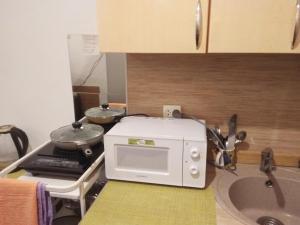 A kitchen or kitchenette at Nelly | Уютная студия на Фонтанке