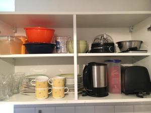 Coffee and tea-making facilities at Gemütliches Appartement nähe Zentrum mit Küche