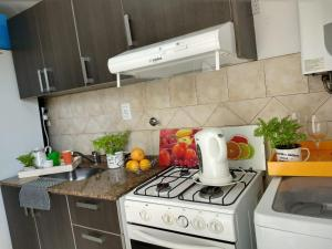 Una cocina o kitchenette en Departamentos Carbo 2