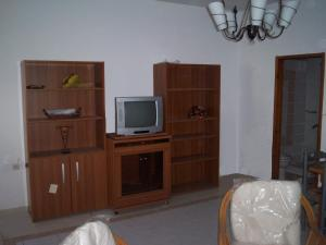 A television and/or entertainment center at Old House