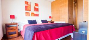 Cama o camas de una habitación en Austral Suites