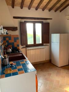 A kitchen or kitchenette at Podere Montale Le Casacce