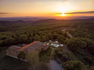Vista aerea di Villa Le Tornaie