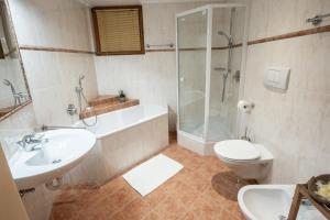 Ein Badezimmer in der Unterkunft Haus Bergfrieden Seebacher
