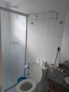 A bathroom at Lacqua Diroma Apartment