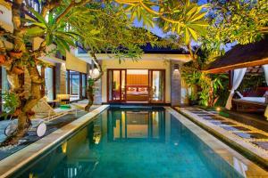 The swimming pool at or near Tiga Samudra Villa