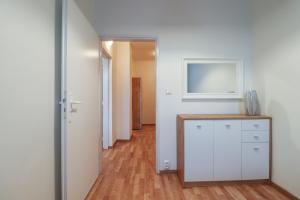 Cuisine ou kitchenette dans l'établissement Riverside Central ApartMeet